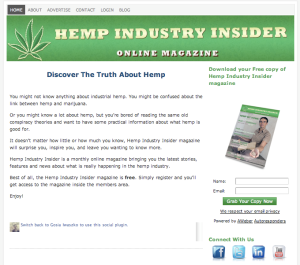 Hemp industry Insider Magazine