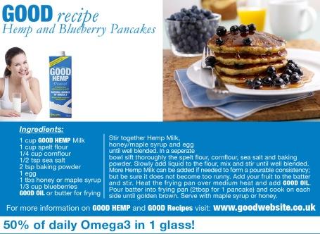 Hemp and Blueberry pancake
